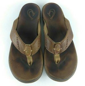 c701d9c6867b Olukai Nui Nui Flip Flop Sandals Brown Size 11
